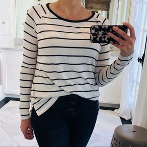 Stripped soft long sleeve shirt